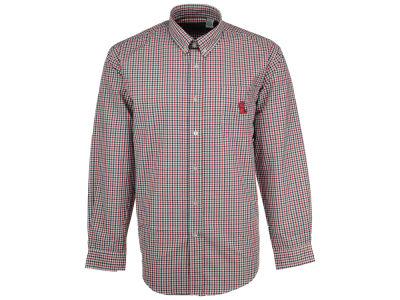 Ole Miss Rebels NCAA Men's Gingham Check Button Down Shirt