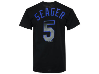 Los Angeles Dodgers Corey Seager Majestic MLB Men's Black Carbon Player T-Shirt