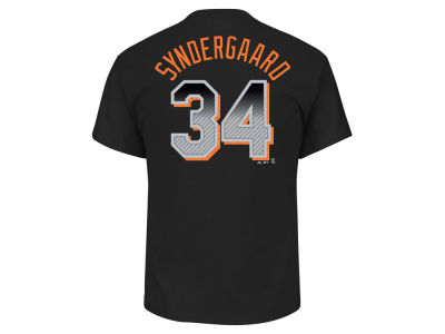 New York Mets Noah Syndergaard MLB Men's Black Carbon Player T-Shirt