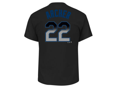 Tampa Bay Rays Chris Archer MLB Men's Black Carbon Player T-Shirt