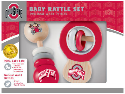Ohio State Buckeyes Baby Rattle Set