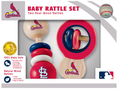 St. Louis Cardinals Baby Rattle Set
