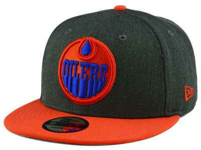 Edmonton Oilers New Era NHL Logo Grand 9FIFTY Snapback Cap