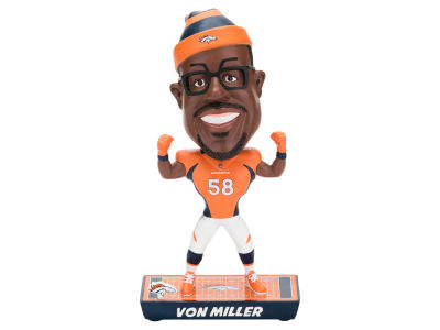 Denver Broncos Von Miller Forever Collectibles Caricature Bobblehead