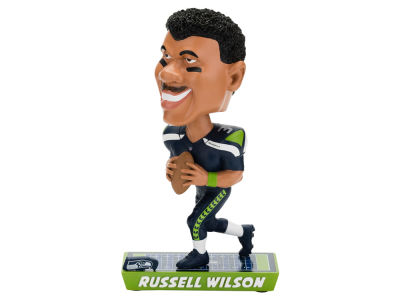 Seattle Seahawks Russell Wilson Forever Collectibles Caricature Bobblehead