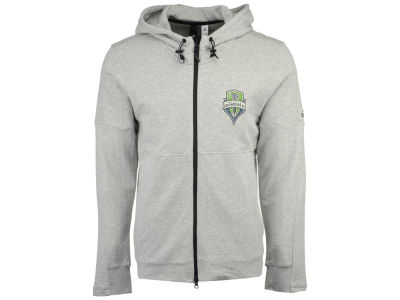 Seattle Sounders FC adidas MLS Men's Ultimate Worn Full Zip Hoodie