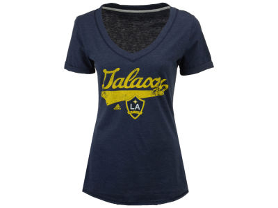 LA Galaxy adidas MLS Women's Tail Stack T-Shirt
