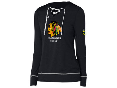 Chicago Blackhawks adidas NHL Women's Hockey Stitch Long Sleeve T-shirt