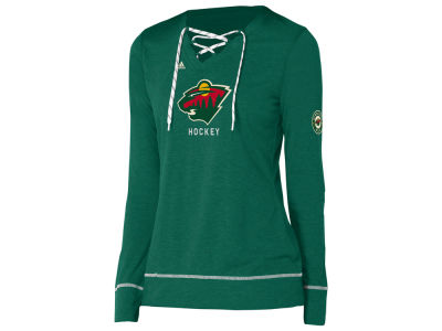 Minnesota Wild adidas NHL Women's Hockey Stitch Long Sleeve T-shirt