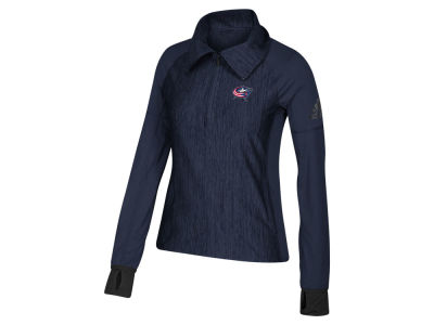 Columbus Blue Jackets adidas NHL Women's Funnel Pullover Jacket