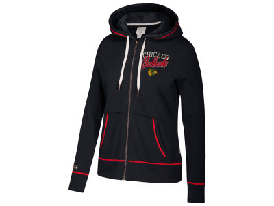 Chicago Blackhawks adidas NHL Women's Full Zip Hooded Sweatshirt
