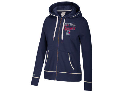 New York Rangers adidas NHL Women's Full Zip Hooded Sweatshirt