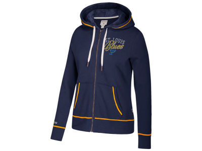 St. Louis Blues adidas NHL Women's Full Zip Hooded Sweatshirt