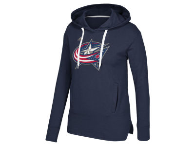 Columbus Blue Jackets adidas NHL Women's Logo Shine Hooded Sweatshirt