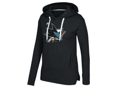 San Jose Sharks adidas NHL Women's Logo Shine Hooded Sweatshirt