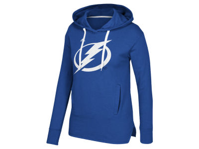 Tampa Bay Lightning adidas NHL Women's Logo Shine Hooded Sweatshirt