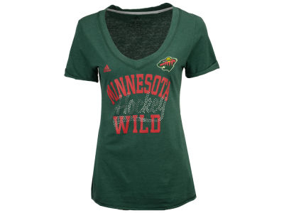 Minnesota Wild adidas NHL Women's Hockey Shine T-Shirt