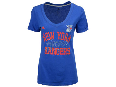 New York Rangers adidas NHL Women's Hockey Shine T-Shirt