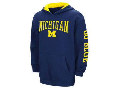 Michigan Wolverines Colosseum NCAA Youth Zone Pullover Hoodie