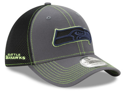 finest selection fe69b 6c2a9 Seattle Seahawks New Era NFL Shock Stitch Neo 39THIRTY Cap