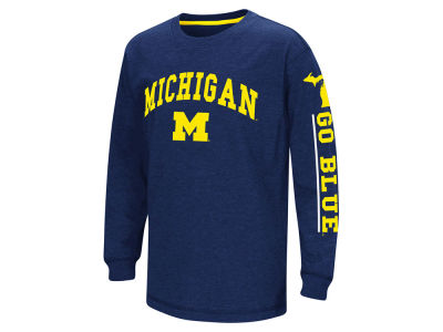 Michigan Wolverines Colosseum NCAA Youth Grandstand Long Sleeve T-Shirt