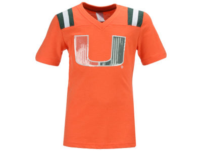 Miami Hurricanes Colosseum NCAA Youth Girls Rugby T-Shirt