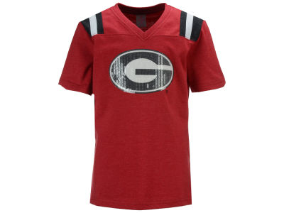 Georgia Bulldogs Colosseum NCAA Youth Girls Rugby T-Shirt