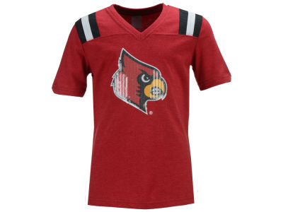 Louisville Cardinals Colosseum NCAA Youth Girls Rugby T-Shirt
