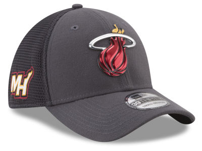 Miami Heat New Era 2017 NBA On Court Graph 39THIRTY Cap