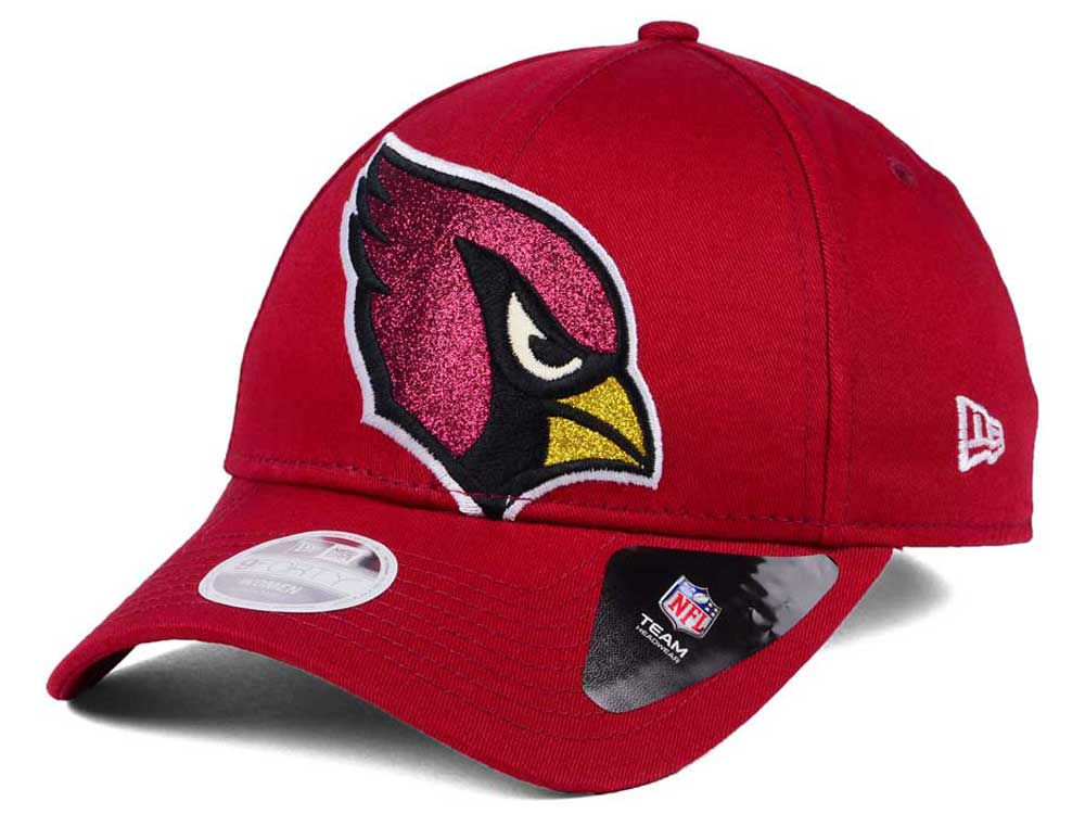 new concept f0801 c2322 promo code arizona cardinals new era nfl womens glitter glam 9twenty  strapback cap 8b720 97fe9