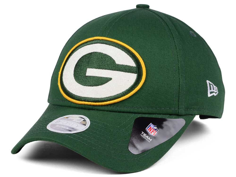 Green Bay Packers New Era NFL Women s Glitter Glam 9TWENTY Strapback ... 7c050cfcd