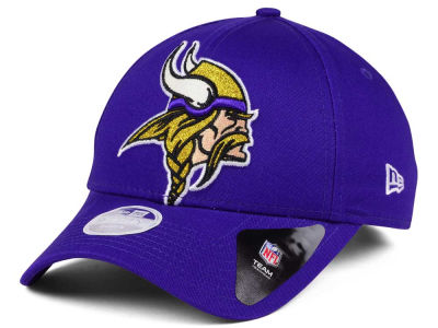 Minnesota Vikings New Era NFL Women's Glitter Glam 9TWENTY Strapback Cap