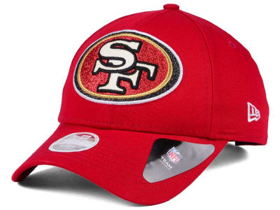San Francisco 49ers New Era NFL Women's Glitter Glam 9TWENTY Strapback Cap
