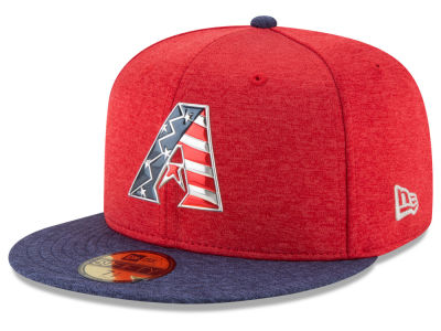 Arizona Diamondbacks New Era 2017 MLB Authentic Collection Stars & Stripes 59FIFTY Cap