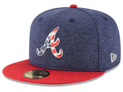 Atlanta Braves New Era 2017 MLB Authentic Collection Stars & Stripes 59FIFTY Cap