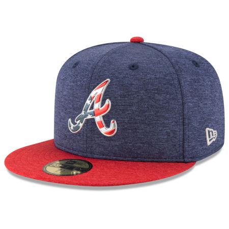 Atlanta Braves New Era 2017 MLB Authentic Collection Stars & Stripes 59FIFTY Cap