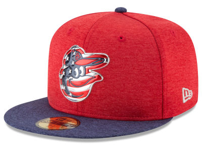 Baltimore Orioles New Era 2017 MLB Authentic Collection Stars & Stripes 59FIFTY Cap