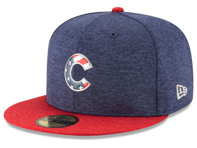 Chicago Cubs New Era 2017 MLB Authentic Collection Stars & Stripes 59FIFTY Cap