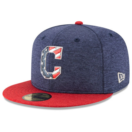 Cleveland Indians New Era 2017 MLB Authentic Collection Stars & Stripes 59FIFTY Cap