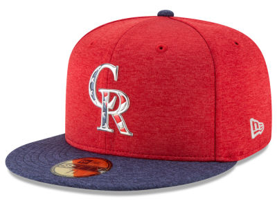 Colorado Rockies New Era 2017 MLB Authentic Collection Stars & Stripes 59FIFTY Cap
