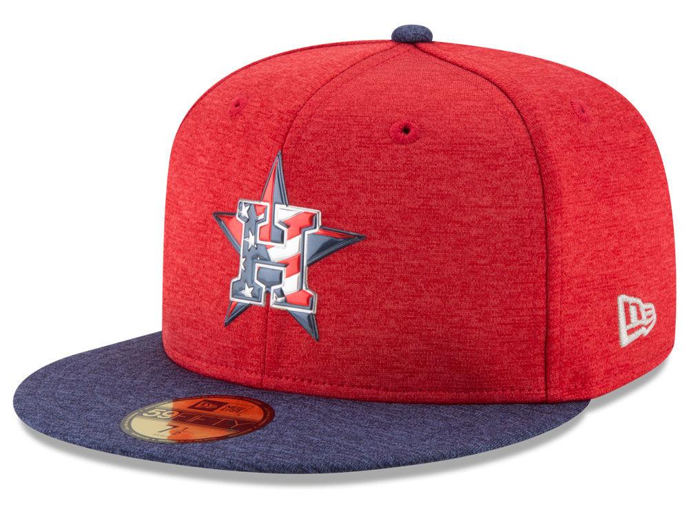 737c12e1fc6 Houston Astros New Era 2017 MLB Authentic Collection Stars   Stripes  59FIFTY Cap