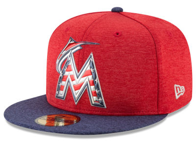 Miami Marlins New Era 2017 MLB Authentic Collection Stars & Stripes 59FIFTY Cap