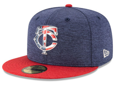 Minnesota Twins New Era 2017 MLB Authentic Collection Stars & Stripes 59FIFTY Cap
