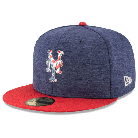 New York Mets New Era 2017 MLB Authentic Collection Stars & Stripes 59FIFTY Cap