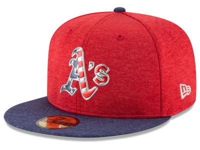 Oakland Athletics New Era 2017 MLB Authentic Collection Stars & Stripes 59FIFTY Cap