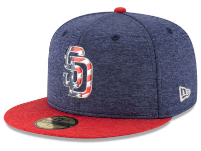San Diego Padres New Era 2017 MLB Authentic Collection Stars & Stripes 59FIFTY Cap