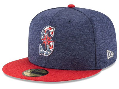 Seattle Mariners New Era 2017 MLB Authentic Collection Stars & Stripes 59FIFTY Cap