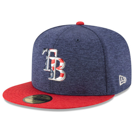 Tampa Bay Rays New Era 2017 MLB Authentic Collection Stars & Stripes 59FIFTY Cap