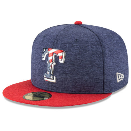 Texas Rangers New Era 2017 MLB Authentic Collection Stars & Stripes 59FIFTY Cap