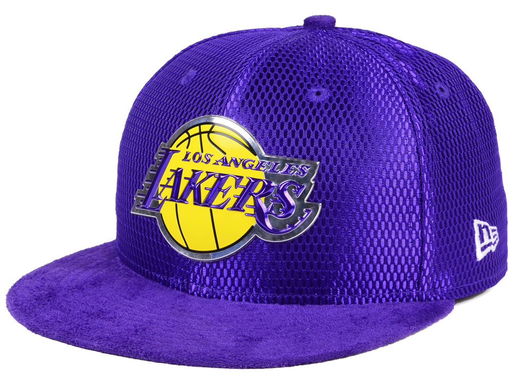 Los Angeles Lakers New Era NBA On-Court Collection Draft 59FIFTY Cap ... 4fcc51408